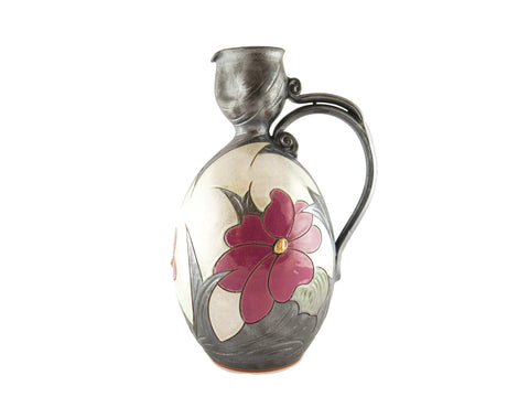 Wine Pitcher 85oz Flower - Handmade Ceramics and pottery | Teapots, Coffee and Tea Mugs, Vases, Bowls, Plates, Ashtrays | Handmade stoneware