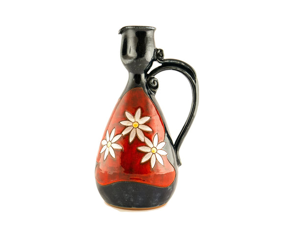Wine Pitcher Small 24oz Daisy - Handmade Ceramics and pottery | Teapots, Coffee and Tea Mugs, Vases, Bowls, Plates, Ashtrays | Handmade stoneware