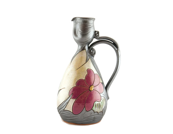 Wine Pitcher Small 24oz Flower - Handmade Ceramics and pottery | Teapots, Coffee and Tea Mugs, Vases, Bowls, Plates, Ashtrays | Handmade stoneware