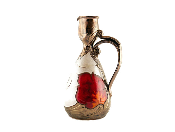 Wine Pitcher Small 24oz Pearl - Handmade Ceramics and pottery | Teapots, Coffee and Tea Mugs, Vases, Bowls, Plates, Ashtrays | Handmade stoneware