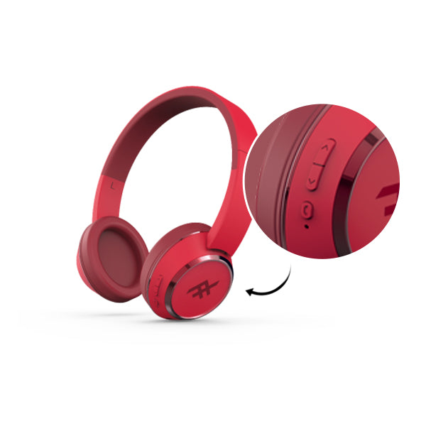 IFROGZ_Audio_Red_Wireless_Bluetooth_Headphone_With_Mic_Button