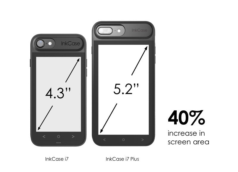 inkcase i7 plus and inkcase i7 screen size . comparison