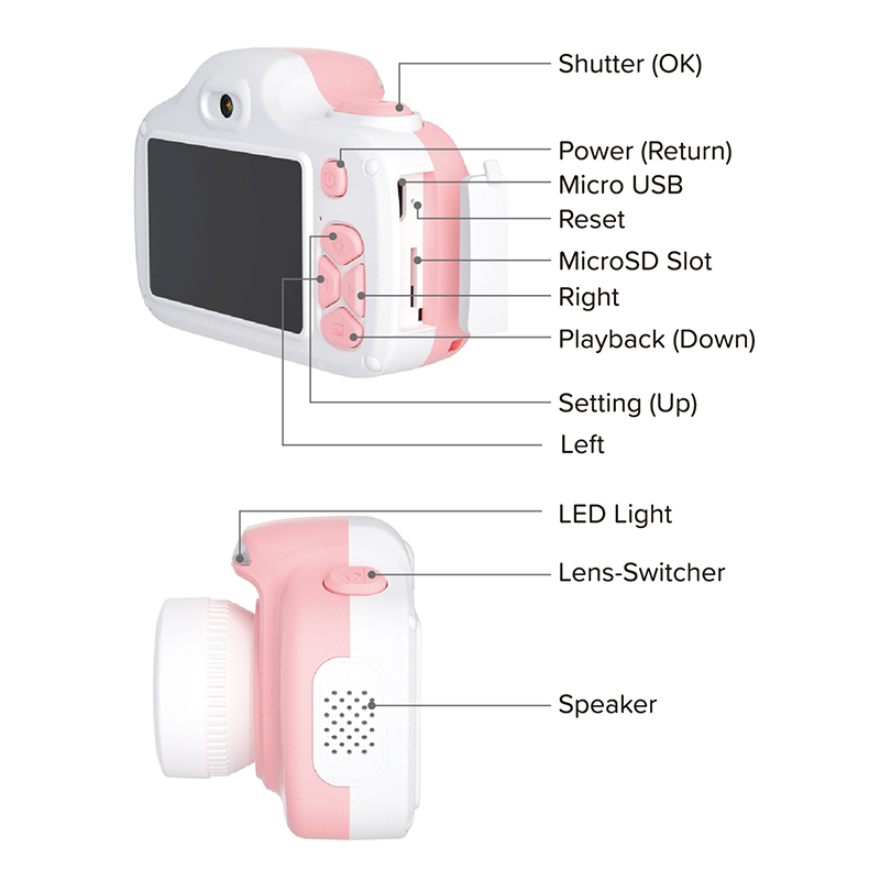 Camera for kids with selfie lens (myFirst Camera 3) 16MP Mini Camera  features