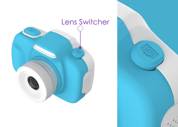 Camera for kids with selfie lens (myFirst Camera 3) 16MP Mini Camera lens switcher