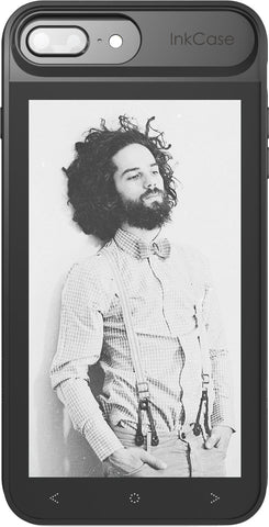 inkcase i7 plus  with wallpaper of man with long beard