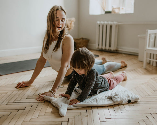 Kids Exercising with Mother