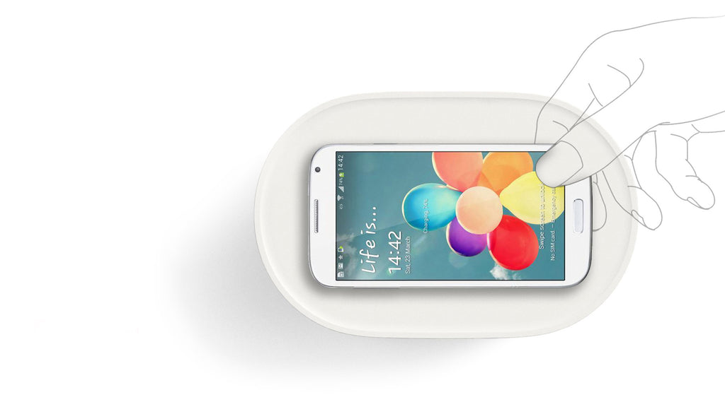 Bento Speaker - Powered by Induction Technology. The True Wireless Speaker (White)