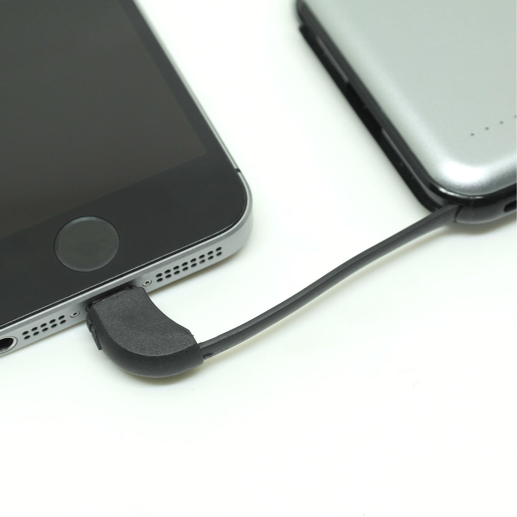 grey 10000mAh Power Bank charging iphone