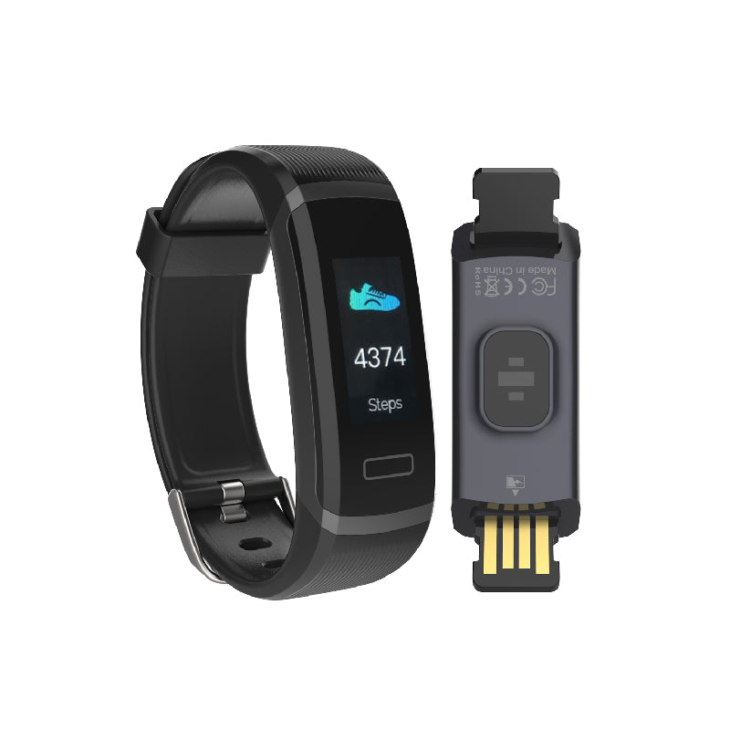 Tenvis HR - Smart Band with BPM Heart Rate Monitor & Full HD Color Screen - Oaxis - The Official Maker of InkCase and the brand owner of myFirst - A brand new collection for kids