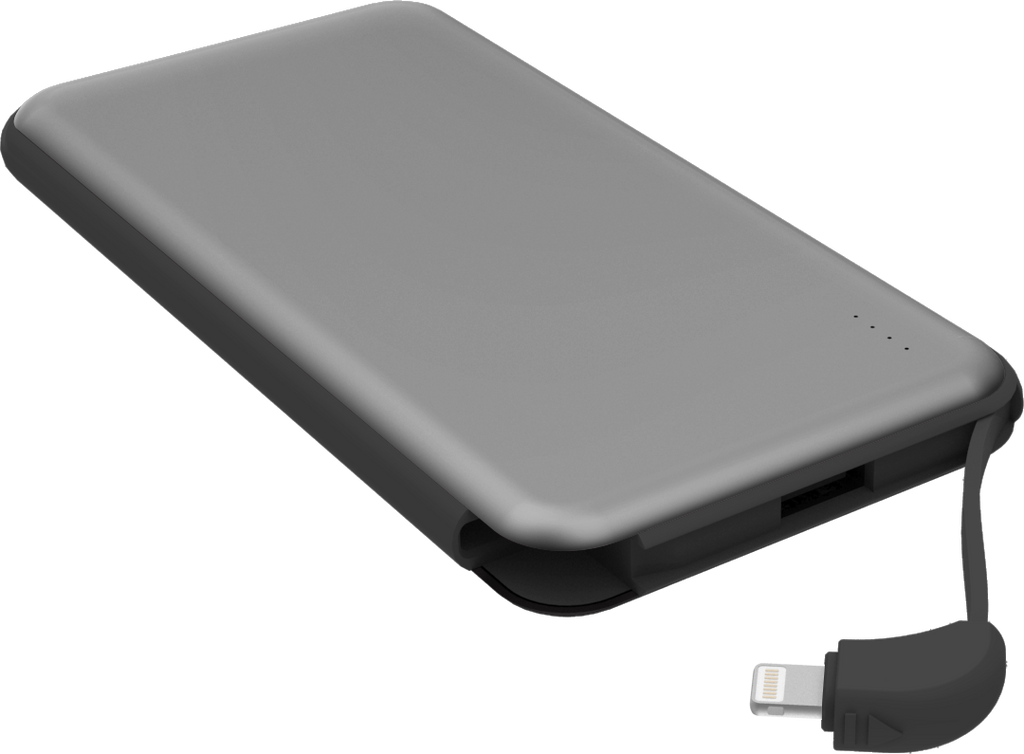 10000mAh Power Bank lightning cable grey