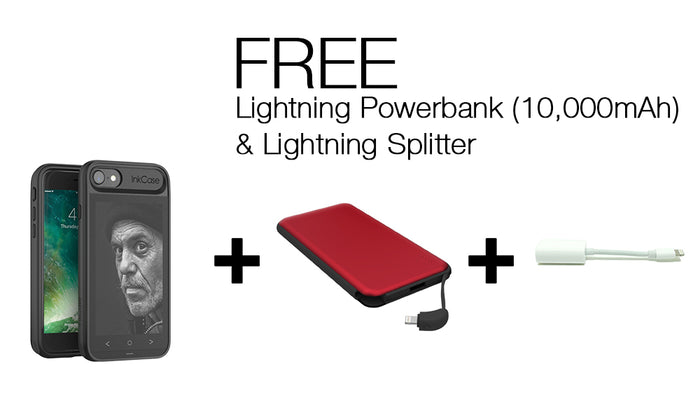 InkCase I7 & Lightning Powerbank (10,000mAh) & Lightning Splitter Bundle FOR IPHONE 8/7/6