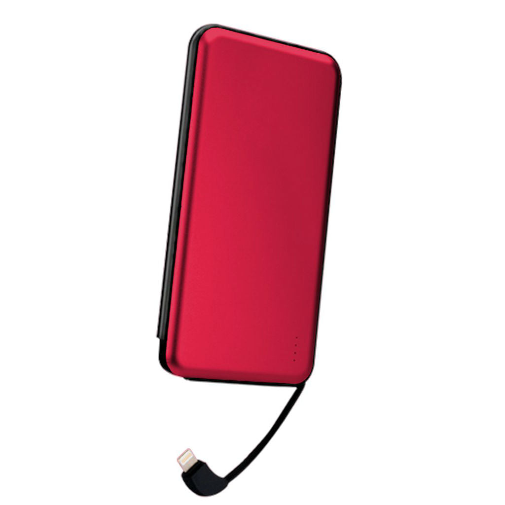 10000mAh Power Bank for Apple Devices red
