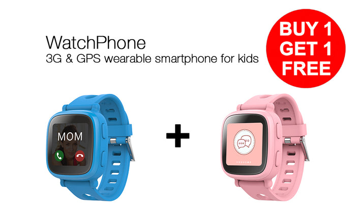 WatchPhone 1-for-1 Bundle. 3G Wearable Smartphone for Kids with GPS