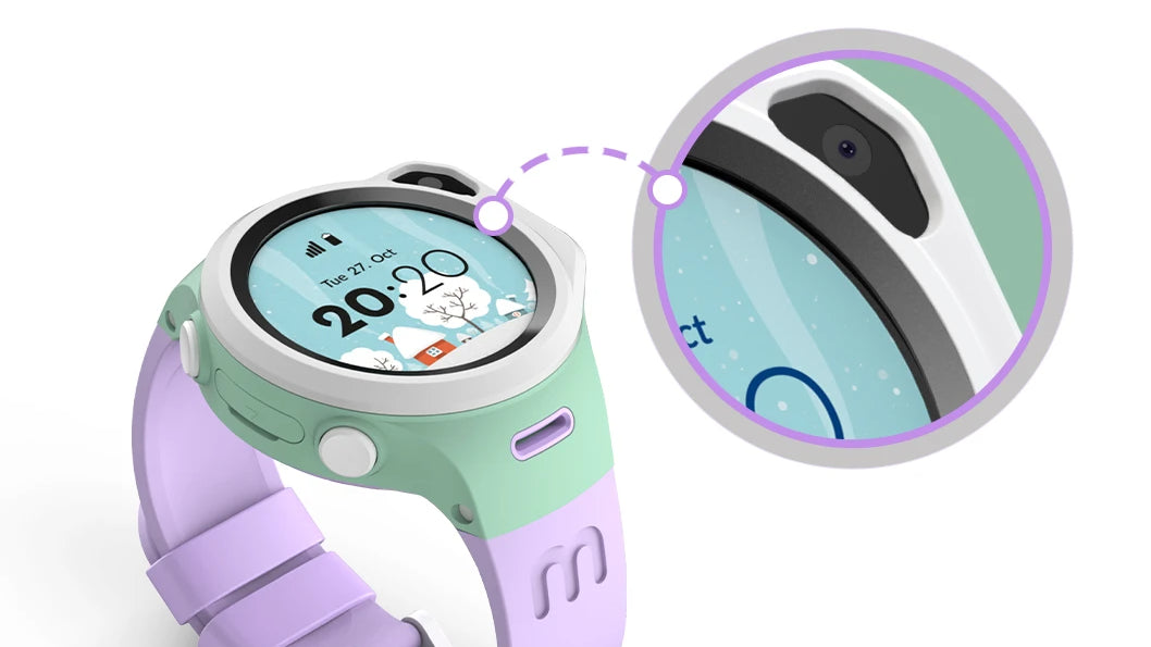 myFirst Fone R1 - Smart watch phone for kids with gps tracker and MP3 Player with Elevated Edge Design