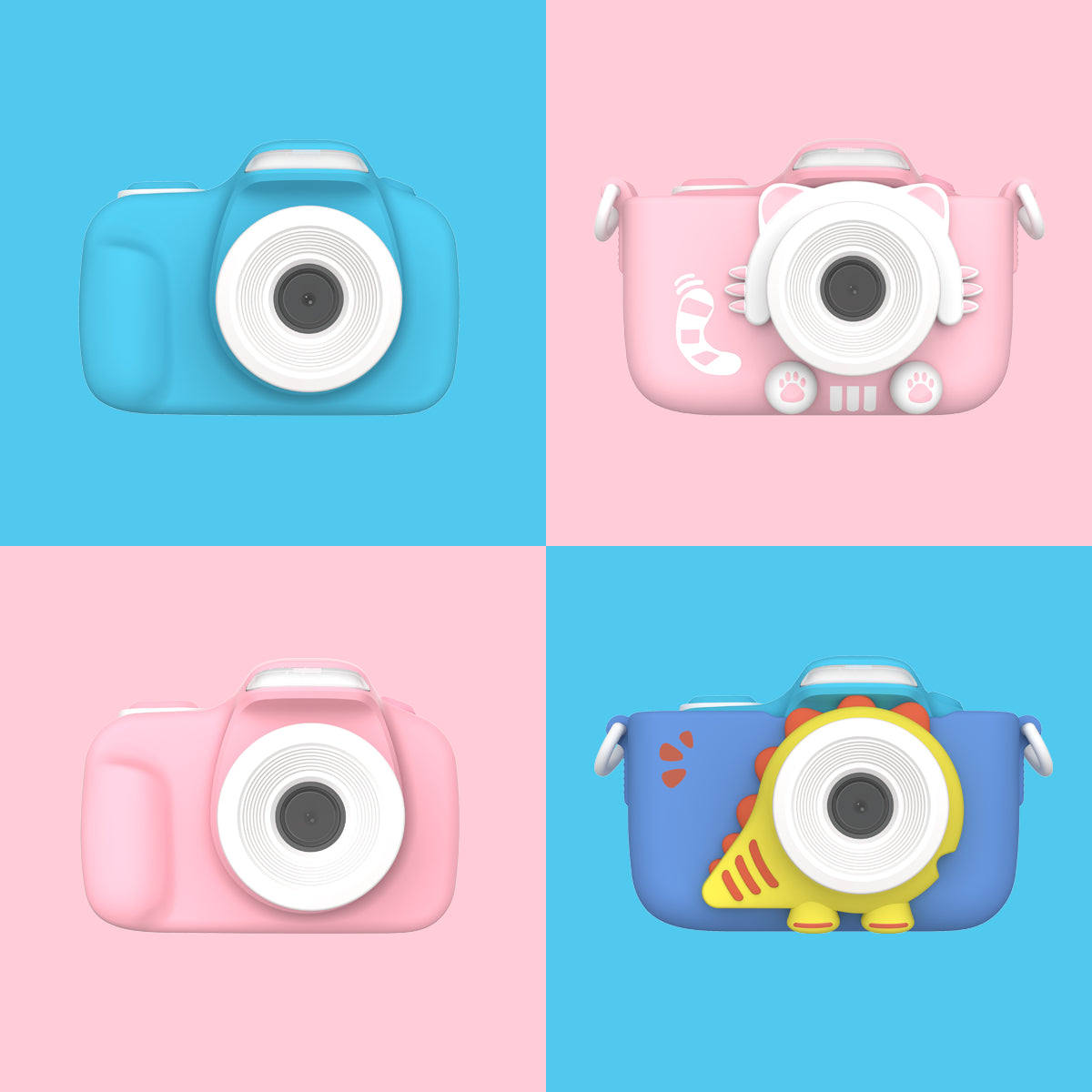 myFirst Camera 3 Frames - 16MP Mini Camera for kids with selfie lens