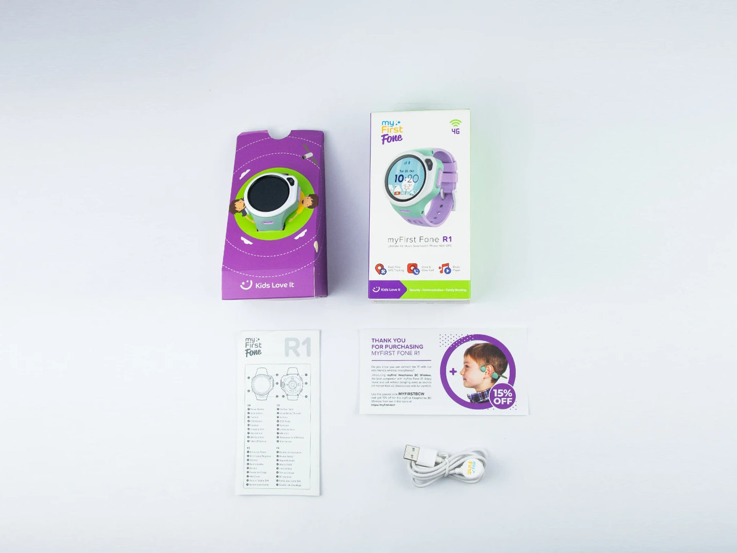myFirst Fone R1 - Smart watch phone for kids with gps tracker Unboxing