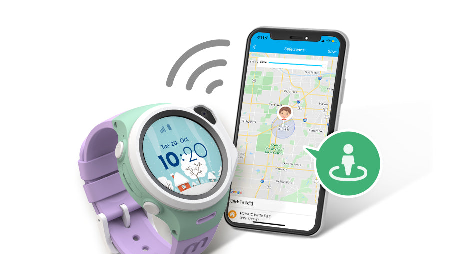 myFirst Fone R1 - Smart watch phone for kids with gps tracker and MP3 Player with Safe Zone Function