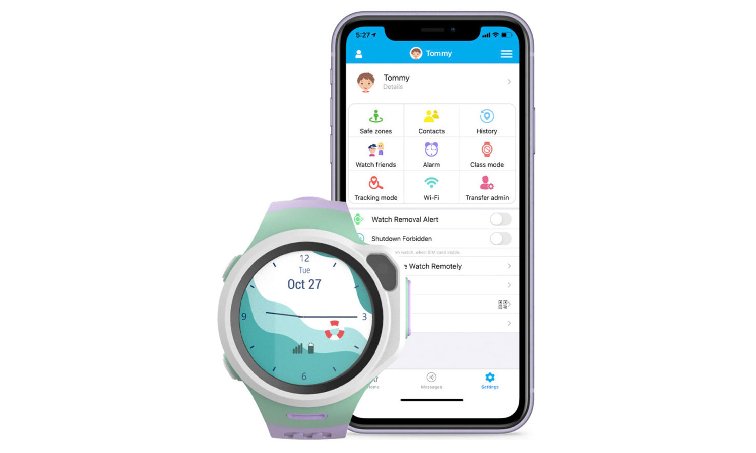 myFirst Fone R1 - Smart watch phone for kids with gps tracker and MP3 Player apps