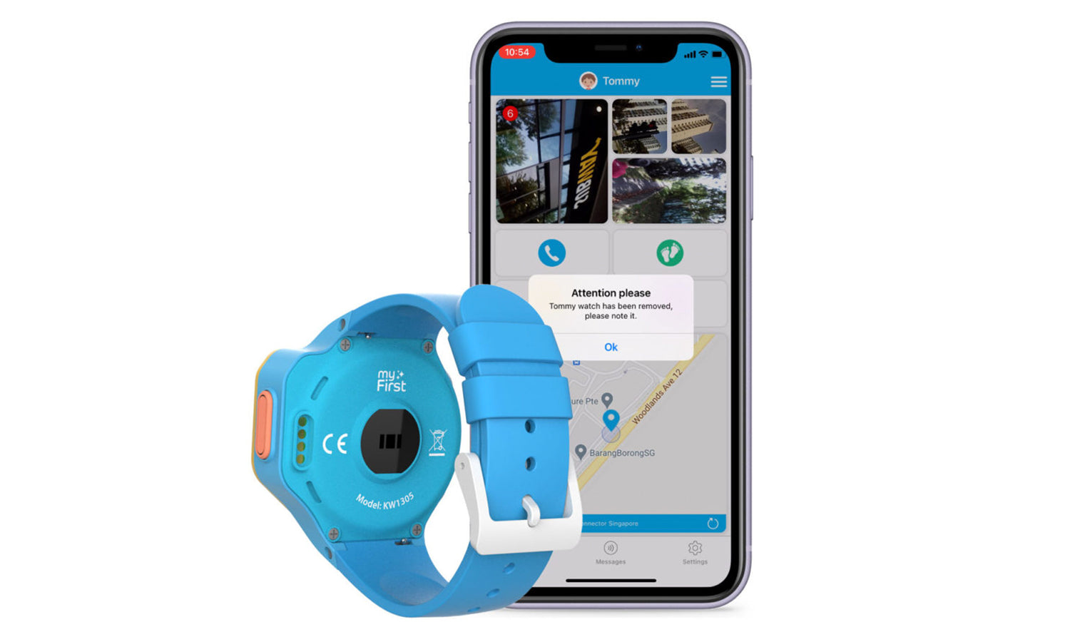 myFirst Fone R1 - Smart watch phone for kids with gps tracker and MP3 Player with Removal Detect