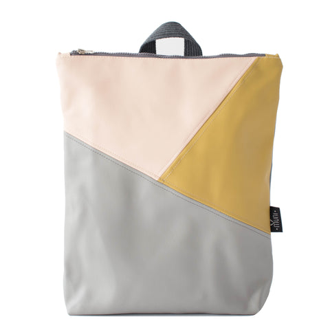 Triple colour backpack, moss