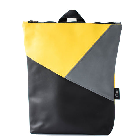 Triple colour backpack, yellow