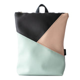 Triple colour backpack, pastel