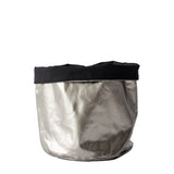 Silver fabric basket