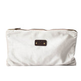 Light beige velvet pouch