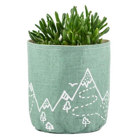 "Mint fabric basket ""Mountains"""