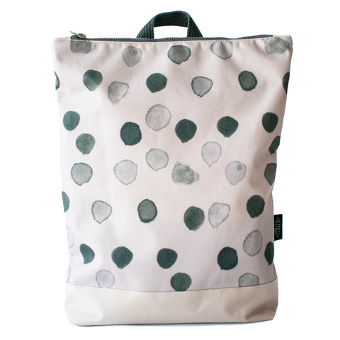 "Large Backpack ""Raindrops"""