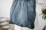 "Tote bag ""Blue linen"" L"