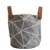 Grey linen basket