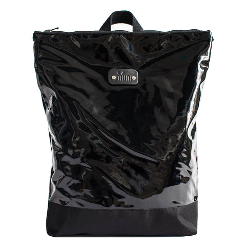 Black latex backpack
