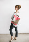 Triple colour backpack, Coral
