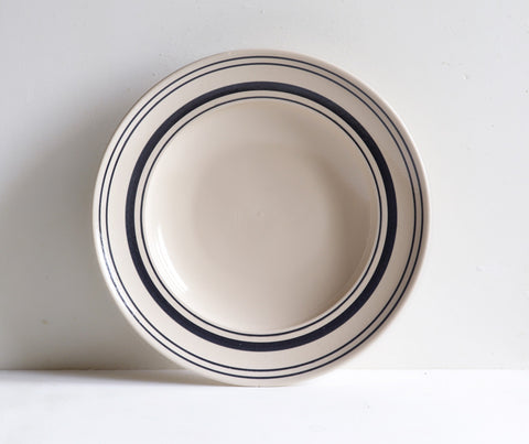 Handmade Tableware Sets in Black Linen Stripe