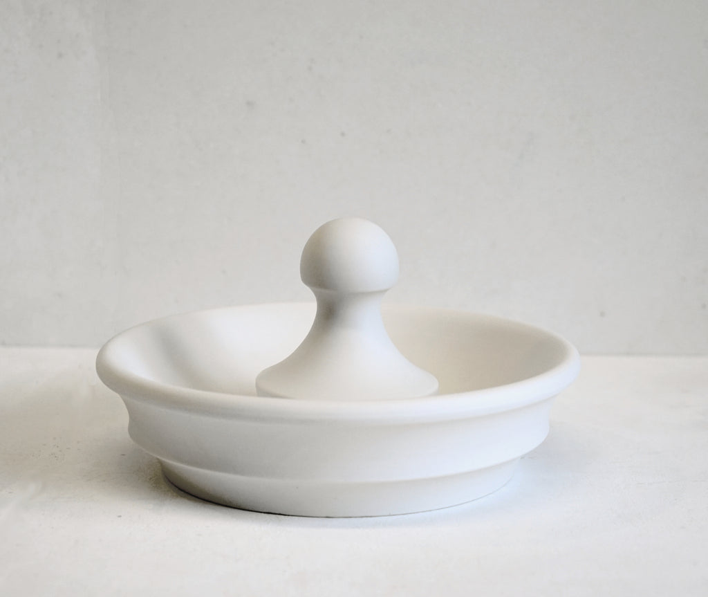 Porcelain Bowl Mortar with Ball Pestle