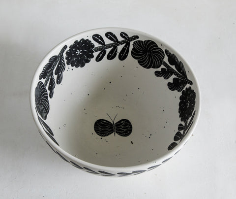 30cm Deep Serving Bowl with exclusive hand painted designs