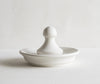 Porcelain Flat Mortar with Ball Pestle - Small