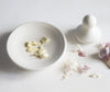 Porcelain Pestle and Mortar crushing garlic