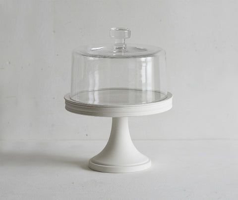 Classical Cake Stand 21cm with Glass Dome