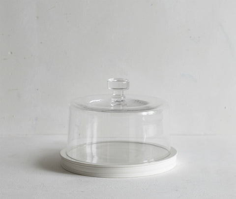 Classical Platform, 21cm with Glass Dome