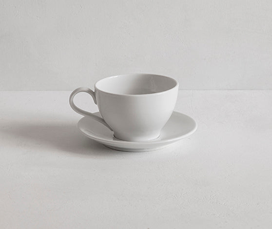 Classical Plain Porcelain Cup and Saucer - 170ml
