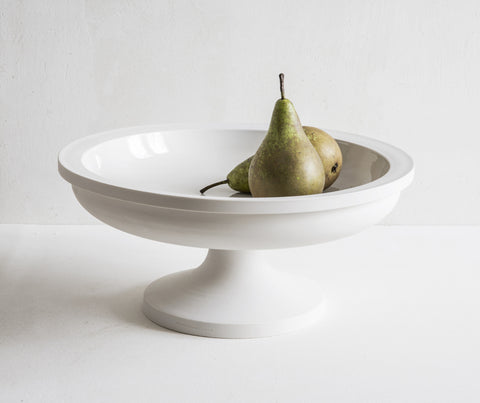 Porcelain Fruit Stand with pears
