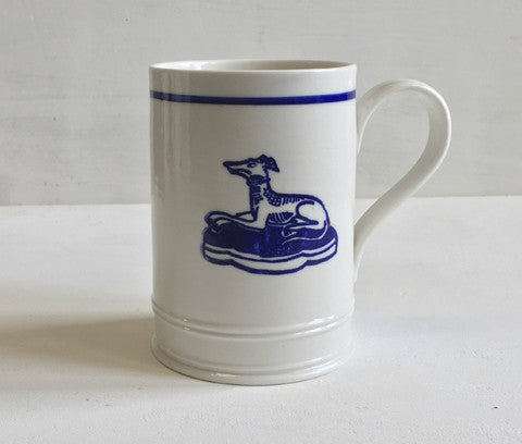 Classical Mug - Hound with Blue Line - Seconds