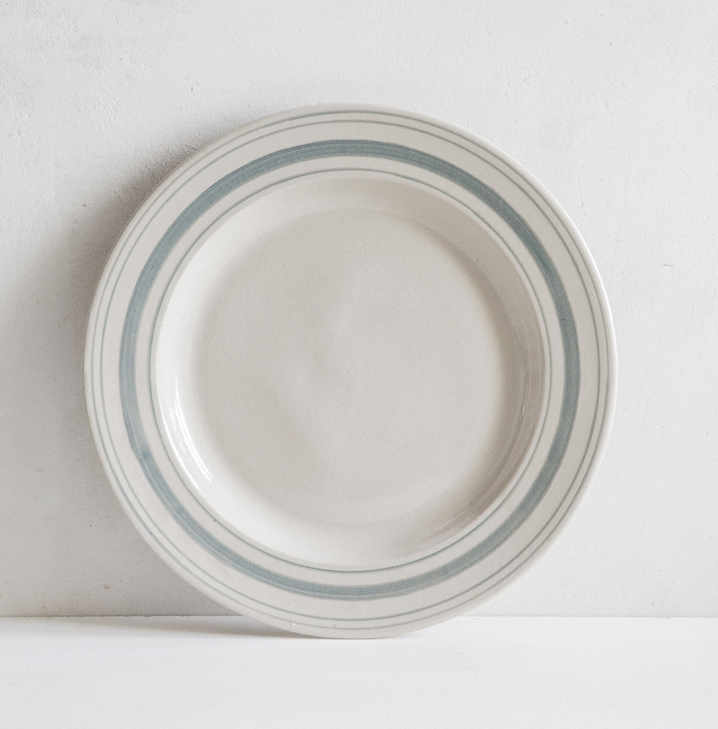 Handmade Linen Stripe Serving Plates