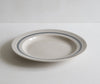Handmade Tableware in Grey Linen Stripe