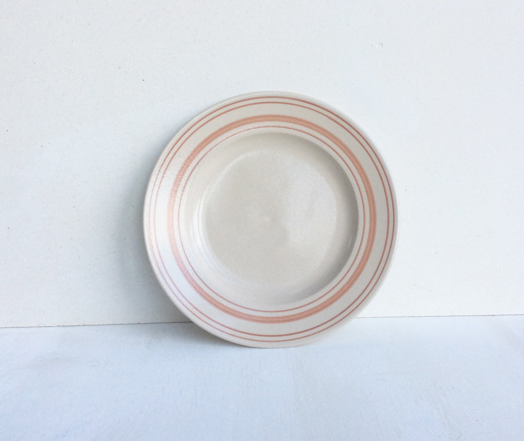 Handmade Tableware in Rose Linen Stripe