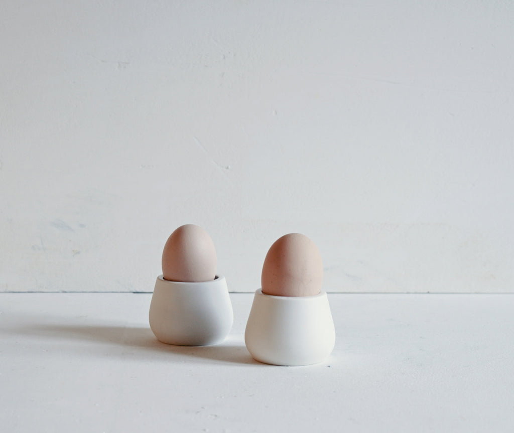 Large Simple Egg Cup - Boxed Pair