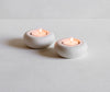 Simple tea lights - porcelain