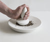 Porcelain Flat Mortar with Spear Pestle - Small